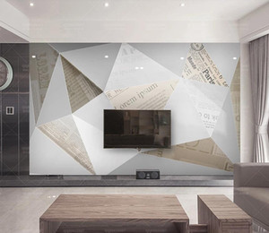 Custom 3d Photo Wall Mural Modern Abstract Geometry Living Room Bedroom Papel De Parede TV Backdrop