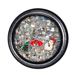 Natale design nail art rhinestones colorato trapano trasparente trapano glitter paillettes per unghie 3D decorazione di cristallo