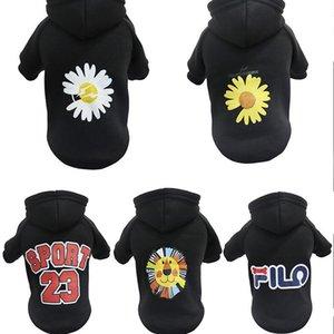 1PCS Noir Chiot Vêtements Chien Vest Coat Mode Pet Shirt Chemise Refletin Strap Vest Vêtements 100% coton