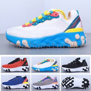 2020 New React Element 87 55 Blue Soles Trainer Children Running shoes boy girl youth kid sport Sneaker Athletic & Outdoor size 28-35