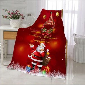 Christmas Flannel Blanket Fluffy Fleece Blankets Winter Travel Party Decoration Bedspread Xmas Gift Plush For Bed Sofa Car Cover
