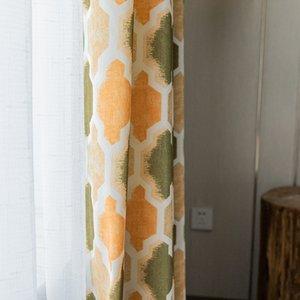 Tessuto della tenda semplice moderna Cortina Poliestere Cotone stampato per camera da letto in camera Modern Living Simplicity