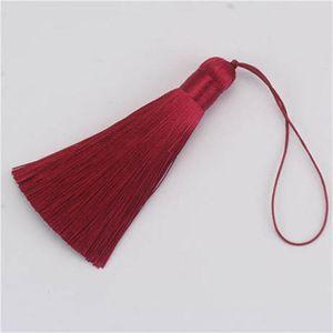 10pcs 8cm Brush Pendy Pendant Accessori per orecchini fai da te gioielli rendendo la seta satinata nappa a mano artigianato risultati fornitori h qylhtw