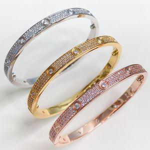 2020Hot selling brand screw Bracelet zircon inlaid gold material classic Star design trend fashion elegant temperament couple Bracelet