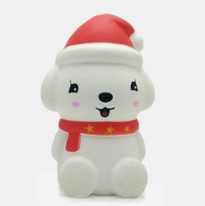12CM Christmas Cute Dog Soft Scented Squishy Stress Relief Toy Funny Kids Toy Stuffed Slow Rising Toys Stress Relief Toy