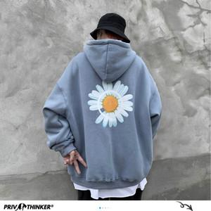 Privathinker Men 2020 Winter Loose Hooded Sweatshirts Mens Harajuku Thicken Warm Coat Hoodies Male Oversize Pullovers Sweatshirt C1011