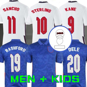 2020 Fußball Jersey 2021 Kane Sterling Vardy Rashford DELE 20 21 Sancho Abraham Football Shirt Männer + Kinder Kit Uniformen