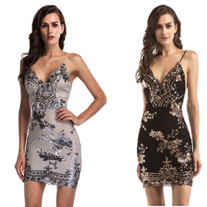 Sexy Night Dress 2021 Summer Women's Sequins Dresses Spaghetti Strap Panelled Lady and Girl's Beach Vacation Dress
