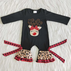 hot sale toddler baby rompers Christmas baby girls boutique romper long sleeve cotton embroidery kids romper boutique fall winter clothing