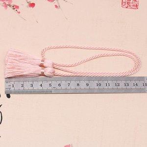 5 unids 54cm cinta de cuerda de dos cabezas largas borlas de bricolaje artesanía de bricolaje accesorios decoración borde franja casero cortina textil tassels colgante h wmtykb