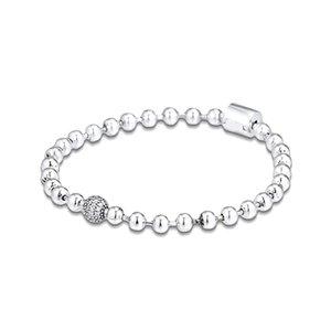 Pulsera de perlas pulseras pavimenta CKK para las mujeres de los hombres Pulseira Femenina Masculina Pulseras Mujer de plata 925 Bransoletki damskie 1028
