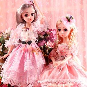 Ucanaan BJD Boneca, 1/4 Dolls SD 18 polegadas 18 Bola Juntido bonecos com roupas roupas sapatos peruca cabelo maquiagem melhor presente para meninas lj200827