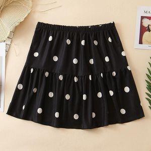 Agong Summer Casual Röcke Frauen Mode Punkt Gedruckt Schwarz Rock Frauen Elegante elastische Taille Mini Röcke Weibliche Damen EG1
