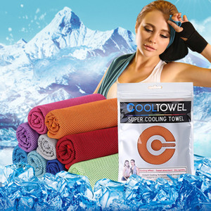 10 Colors Sports cold towel fast cooling fitness running sweat absorption cooling cold outdoor mountaineering sports wipe ice towel