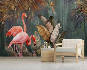 3d Wallpaper Living Room Nordic Modern Minimalist Tropical Plant Forest Bird Background Wall Painting HD Wallpaper