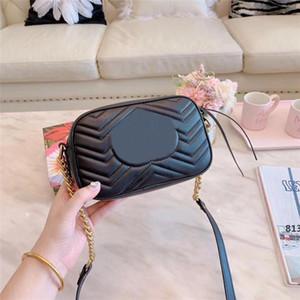 Top design de luxe Mode Femmes en cuir véritable mini-Marmont d'or sacs à main épaule sac sac avec des numéros de série Box813
