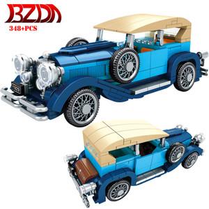 BZDA Yaratıcı Klasik Araba Tuğla Retro Teknik Araba Cadillac Yapı Taşları Moc Toplamak Oyuncaklar Arabalar Modeli Çocuk Araba Oyuncakları Hediye X0102