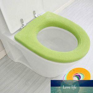 O-Typ WC-Sitzabdeckung Warm Waschbar Badezimmer-Dekor weiche Kissen Closes-Schutz-gelegentliche Farben 1Pcs