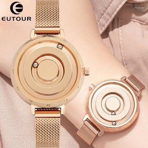 Eutour Women Watch Rose Gold Sliver Black Watches Magnetic Metal Immet Feminino Senhoras Senhoras De Aço Inoxidável Quartz WristWatch1