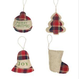 Ornements de Noël petit arbre de Noël suspendu bas xams draps pendentif cadeau cadeau de noël stockage de noël décoration gwc3105
