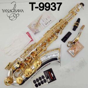 Brand Yanagisawa New Professional Tenor Sassofono Sassofono Silvering Professional Tenor Sax Nichel placcato con custodia a canne