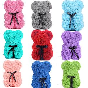 Новый день Святого Валентина подарок PE розовый медведь игрушки с подарочной коробкой Фаршированные полные любви романтические плюшевые мишки кукла милая подруга детей подарок