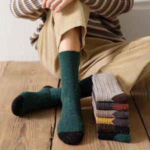 Fashion Men Socks 2020 Autumn Winter New Socks Business Cotton Breathable Long Elastic Brief Crew Men 1 Pair