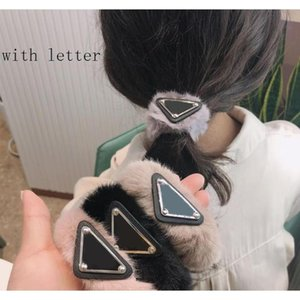 Women Girl Triangle Letter Hair Ties Multicolor Cute Triangle Elastic Hair Band Hair Acce sqcXYW dh_seller2010