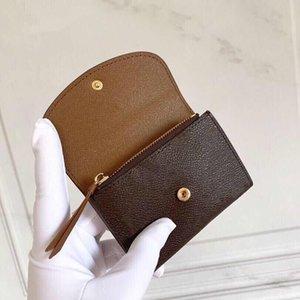 Münzbörse Bunte Pressbolzen Weibliche Kompakte geräumige kurze Brieftasche Körnige Leder Futter aus überzogener Leinwand Blume gedruckt