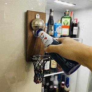 Креативная многофункциональная открывалка бутылки настенная настенная с магнитной баскетбольной бутылкой крышкой Cap Catcher - Choot с подарком Cap 201204