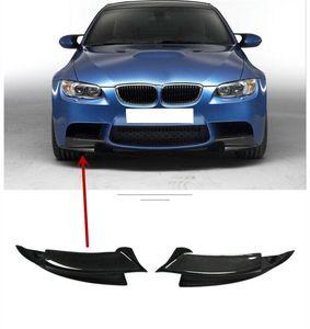 Pour BMW M3 ANGLE DE FIBRE DE FIBRE DE FIBRE DE CARBONE E92 E93 2007-12FRONT SPOILER LIP
