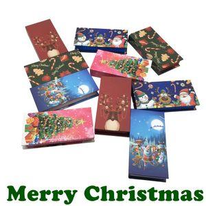 Wholesale Christmas Eyelash Box 25mm Mink Lashes Eyelashes Empty Packaging Box Magnetic Red Festival Gift Case Bulk Fashion
