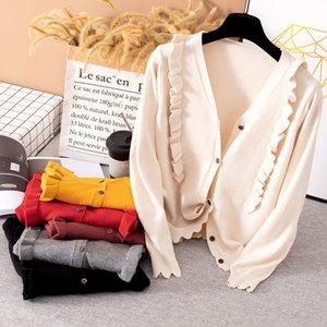 Langarm-Pullover, Damen-Spitze Hals, informelle Gelee, elegante Straßenkleidung, organisiert G110 2020
