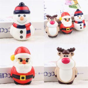 Рождественский декор игрушки Шаровые давления Slow Rebound Squishy PU Моделирование Doll Vent Взрослые Сбросьте Стресс Шарики Портативный 4MC F2