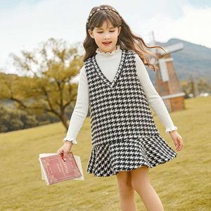 DRS Girls 2020 New Winter China Università Coreana Tweed Svels Peluche VT Gonna