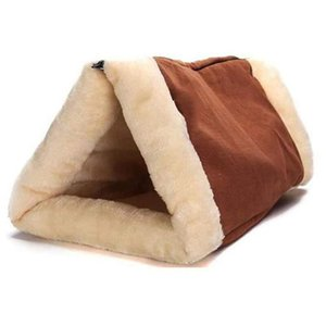 Warm Cozy Cat Sleeping Bag for Small Puppy Pet Cat Dog Cave House Zipper Design Unfold Pet Pad Winter Soft Bed