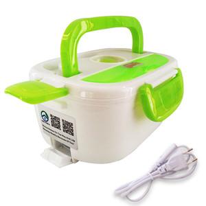 Tenbroman 220V + 12 V / 220V Caja de almuerzo de calefacción eléctrica portátil Portátil Calentador de almacenamiento de alimentos Hecho por PP Contenedor de alimentos extraíbles para el hogar 201120