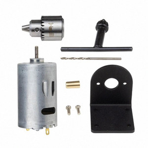 Pcb Wood Plastic Cardboard Hole Saw Dc 12-36V Lathe Press 555 Motor With Miniature Hand Drill Chuck And Mounting Bracket Dc Moto xy6E#