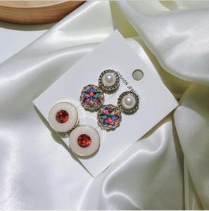 Goujons boucles d'oreilles oreilles clips d'oreilles boucles d'oreilles mode coréenne personnalité léopard print fleur tempérament simplicité acrylique polyvalente mer EEB4374