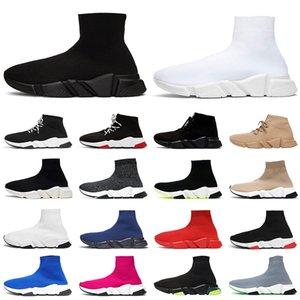 Speed Trainer men women sock shoes fashion sneakers Triple black white Red Beige clearsole yellow jogging walking casual sports