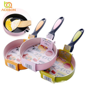 Japanese 16CM Nonstick Pan Non-stick Cookware Frying Pan Saucepan Small Fried Eggs Pot General Use for Gas and Induction Cooker T200523