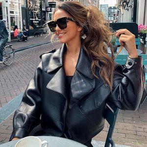 Ailegogo neue Ankunfts-Winter-Herbst 2020 Frauen Leder Wallet Campera Chaqueta Cuero Mujer Modis-Mantel-Frauen Veste Cuir De Couro