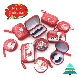 Рождество Ресницы упаковочной коробки с застежкой-молнией хлещет Новый случай Lash Коробки с лотками Bulk 25мм норковые Lashes упаковочной коробки макияж
