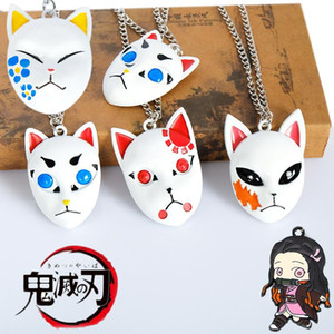 Anime Demon Slayer Kimetsu no Yaiba Necklace Kamado Tanjirou Cosplay charm Pendant Necklace for Women Men gift
