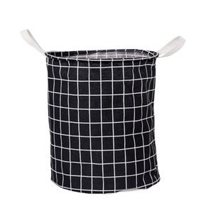 Foldable Waterproof Laundry Basket Plaid Dirty Clothes Washing Laundry Baskets Storage Bag Toy Organizer Clothing Storage Box GWD2672