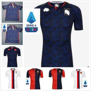 2020 2021 Jersey de football de cricket Gênes 20 21 Pinamonti Kouame Uniforme de football adulte Pandev Schone Radovanovic Chemise de football Garçons Jerseys