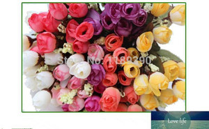 10 pieces lot 100% Peony Roses Artificial Flowers Wedding Bridal Bouquet Flowers Wholesale