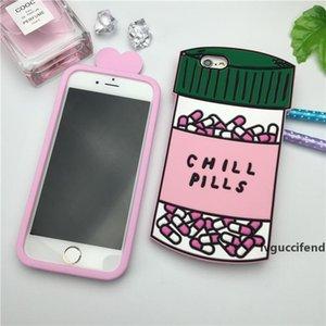 2017 de lujo poción de amor Chill Píldoras de la botella de teléfono para el iPhone 5 5s 5SE 6 6S 6S 4,7 6plus de silicona suave 3d Para Fundas