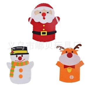 Noël non tissé marionnette en tissu pour enfants poupée de doigt créatif bricolage bricolage