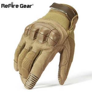 ReFire Gear Tactical Combat Army Gloves Men Winter Full Finger Paintball Bicycle Mittens Shell Protect Knuckles Military Gloves 201021